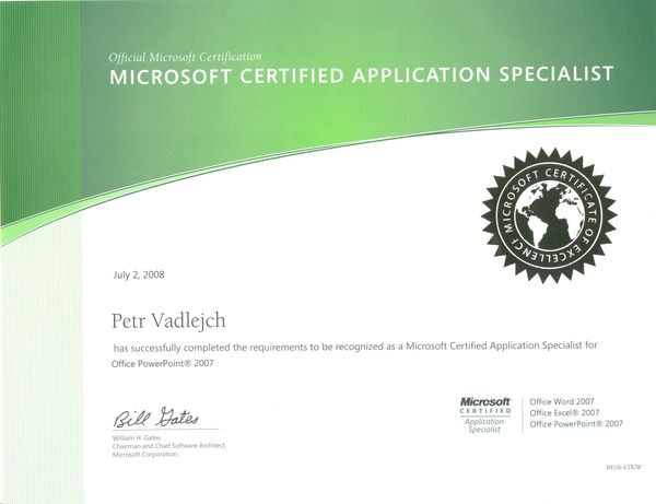 certificates itlektor cz ms office specialist
