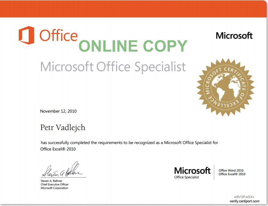 Ms Office Cert Vatozozdevelopment