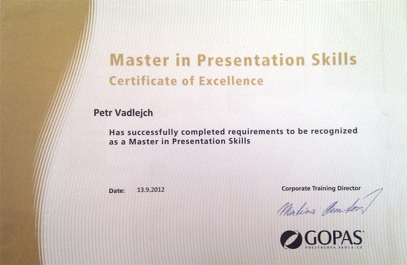 Master in Presentation Skills Certificate