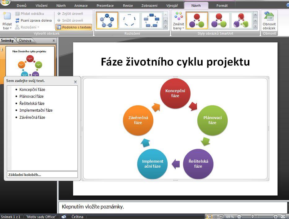 Šablony prezentací v powerpointu
