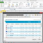 Internetová tabulka do Excelu