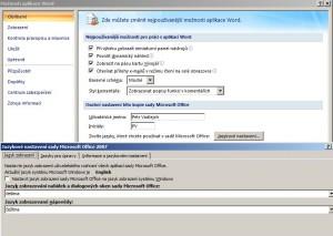Změna jazyka Office 2007