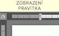 Zobrazení pravítka