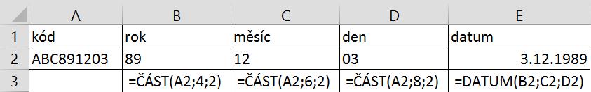 Funkce datum