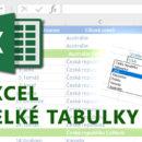 E-learning Excel - Velké tabulky
