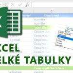 E-learning Excel – Velké tabulky