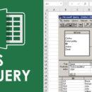 Online kurz Excel - Microsoft Query