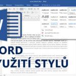 Online kurz Word – Využití stylů